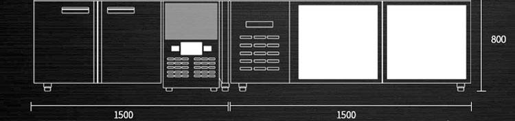 奶茶店水吧台设计图