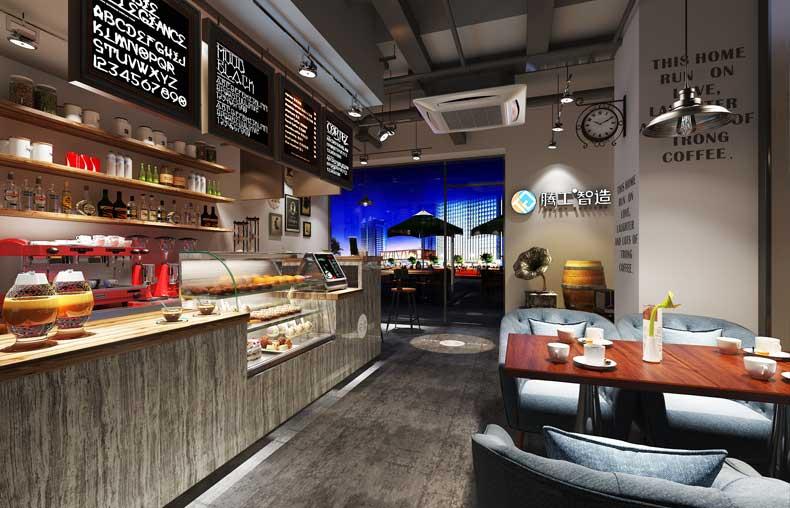 时尚休闲咖啡店设计图