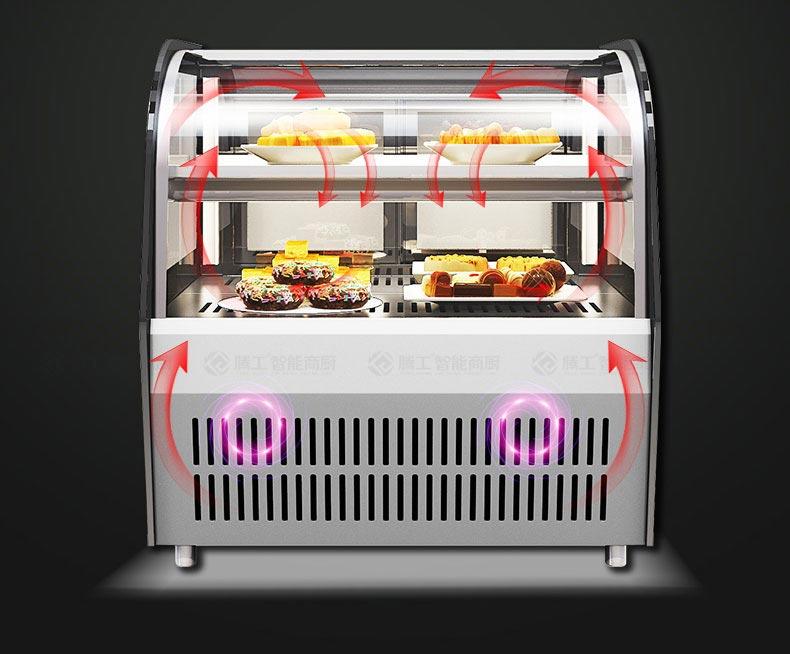 蛋糕展示柜立体循环风冷保鲜。