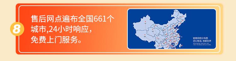 售后网点遍布全国661个城市 24小时响应,免费上门服务
